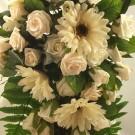 Cream Gerbera & Rose Shower Bouquet