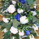 Cream & Blue Rose Shower Bouquet
