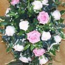 Pink & Ivory Rose Shower Bouquet