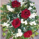 Red & Ivory Rose Shower Bouquet