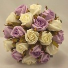 Lilac & White Jubilee Rose Bridesmaid's Bouquet