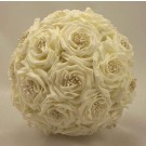 Cream Wild Rose Bridal Bouquet