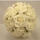 Pearl White Rose Bridesmaid's Bouquet
