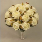 White Jubilee Rose Medium Table Posy