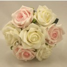 Pink & White Rose Children's Posy Bouquet
