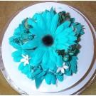 Turquoise / Aqua Gerbera Cake Topper