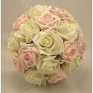 Pink & Pearl White Bridesmaid's Posy
