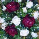 Burgundy & Ivory Rose Shower Bouquet