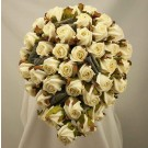 Ivory Jubilee Rose Diamante Shower Bouquet