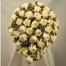 Ivory Jubilee Rose Diamante Shower Bouquet