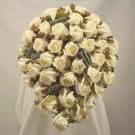 White Jubilee Rose Shower Bouquet