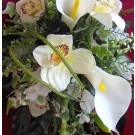 Cream Cala Lily & Orchid Shower Bouquet