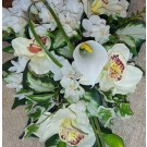 Ivory Cala Lily & Orchid Shower Bouquet