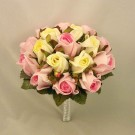 Raspberry Pink & Cream Rose Medium Table Posy