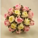 Raspberry Pink & Cream Rose Bridesmaid's Posy