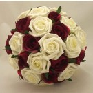 Burgundy & Ivory Rose Posy Bouquet