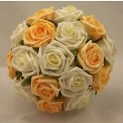 Gold & Ivory Rose Bridesmaid's Bouquet