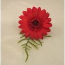 Red Gerbera Fern Buttonhole