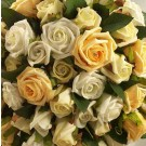 Gold & Ivory Rose Diamante Shower Bouquet