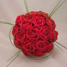 Red Rose Diamante Bridal Bouquet