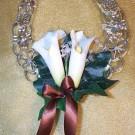 Ivory Cala Lily & Ribbon Horseshoe