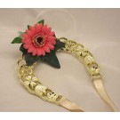 Pink Gerbera & Ribbon Horseshoe