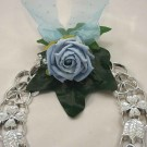 Blue Rose Organza Horseshoe