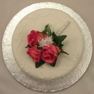 Pink Rose Corsage Cake Topper