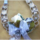 Ivory & Blue Rose Horseshoe