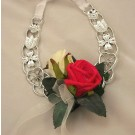 Red & Ivory Rose Horseshoe