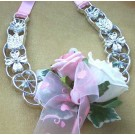 White & Pink Rose Horseshoe