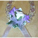 Lilac & Ivory Rose Horseshoe