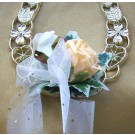 Gold & Ivory Rose Horseshoe