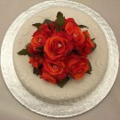 Orange Rose Luxury Diamante Cake Topper