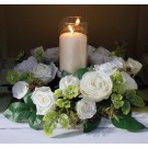 Ivory Garden Rose Centerpiece Table Decoration