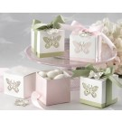Butterflies Laser-Cut Favour Box - (Baby Pink)