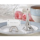 """Evening in Paris"" Eiffel Tower Silver-Finish Place Card / Holder"
