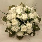 White Rose & Stephanotis Posy Bouquet