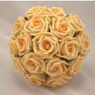 Gold Open Rose Table Posy