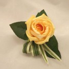 Single Gold Rose Buttonhole