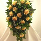 Gold Rose Diamante Shower Bouquet