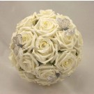 Ivory Rose Diamante Butterfly Bouquet