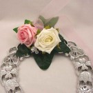 Pink & Ivory Rose Horseshoe