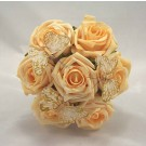 Gold Rose Diamante Butterfly Children's Posy