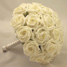 Ivory Rose Diamante Bridal Bouquet