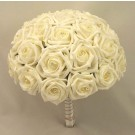 Large Ivory Diamante Rose Table Posy