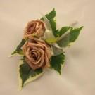 Double Mocha Rose Buttonhole