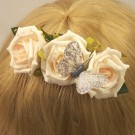 Ivory Open Rose Hair Comb