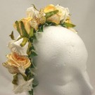 Gold & Ivory Rose Alice Hair Band