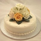 Ivory & Gold Rose Diamante Cake Topper
